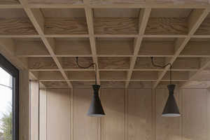 This 1930s Home is Refurbished with a Latticed Wooden Ceiling