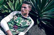 Tropically Vivid Editorials - Hunter Parkes Dons a Vibrant Wardrobe in this Series by Ian Chang