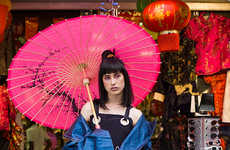 Urban Geisha Portrayals - This Wiktoria Ferenc Editorial Highlights Bonnie Bowley's Designs