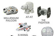 Galactic Spaceship Plushies - These Star Wars Stuffed Toys are Perfect for Younger Fans of the Film