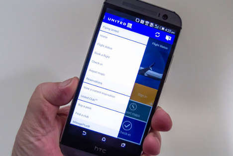 Passport-Scanning Travel Apps - United Airlines' App Makes Plane Travel That Much Easier