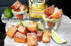 Fried Tequila Shots - These Booze-Filled Cake Bites are the Perfect Fried Alcoholic Treat