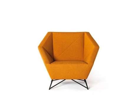 Cushioned Origami Seating - Prostoria's 3angle Chair Boasts a Geometric Shape