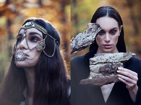 Woodland Gypsy Editorials - Glassbook Magazine's Wald Exclusive is Witchy and Eccentric