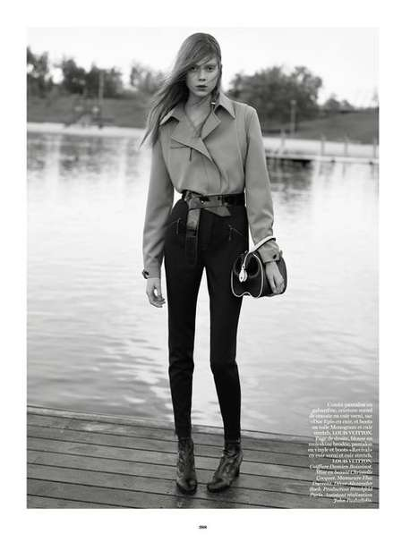 Plush Lakeside Editorial - The Vogue Paris A Man of Our Time Photoshoot is Upscale and Outdoors