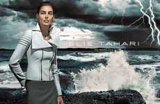 Storm-Ridden Fashion Campaigns - The Elie Tahari Fall/Winter 2014/2015 Advertisements Are Gusty