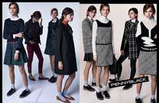 Remixed Schoolgirl Campaigns - The Pennyblack Fall/Winter 2014/2015 Advertisements Are Collegiate