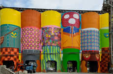 Giant Silo Artwork - Os Gemeos Jazzes up Granville Island in Vancouver