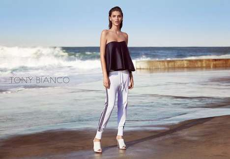 Simplistic Seashore Style Campaigns - The Tony Bianco Summer 2014 Advertisements Are Minimalist