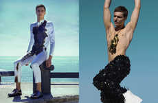 Futuristic Beachside Editorials - Glassbook Magazine's Cavalier Feature Highlights Vanguard Styles
