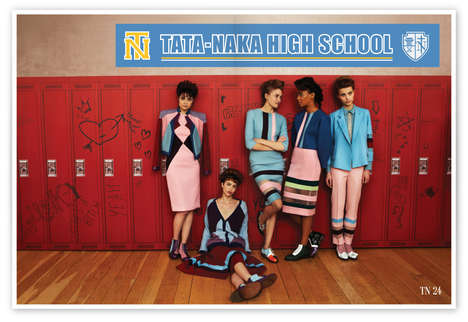 30 Back-to-School Editorials - From Bored Student Editorials to Witchy Collegiate Catalogs