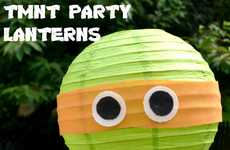 Crafty Turtle Illuminators - The TMNT Paper Lantern Decorations are Perfect for Children's Parties