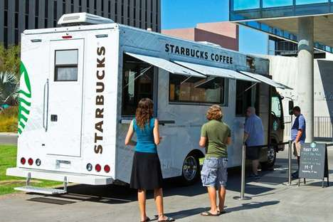 Collegiate Coffee Trucks - The New Starbucks Food Trucks Will Follow Students Around on Campus