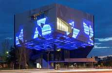 Projected Facade Architecture - The Caixaforum by Carme Pinos Boasts a Visually Vivid Design
