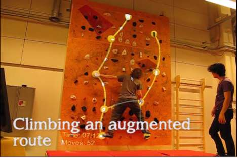 Augmented Reality Rock Walls - This Augmented Reality Climbing Wall Aids or Challenges Climbers