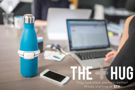 Hydration-Monitoring Sensors - The Hug is Here to Help You Hydrate Better