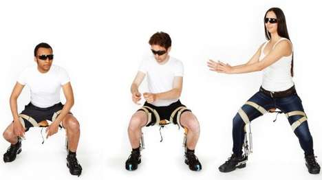 Wearable Chairs - The Chairless Chair Lets You Sit Down Anywhere, Anytime