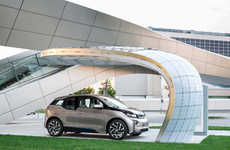 Solar-Powered Charging Stations - The 'Point.One S' is an Eco-Friendly Alternative by BMW