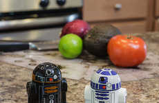 Galactic Automatated Shakers - Add Fun to Your Meals with the Droid Salt and Pepper Shakers