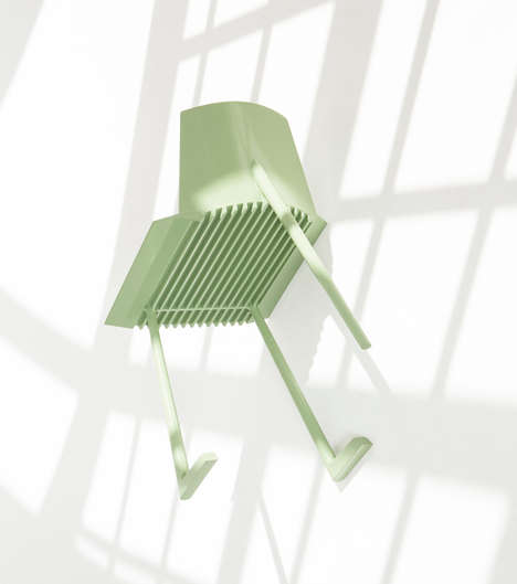 Computer-Simulated Chair Designs - Geckeler Michels Uses Computer Technology to Develop 'Fragment'