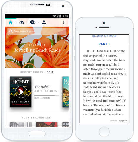 E-Book Subscription Services - The Oyster App is Netflix for Books
