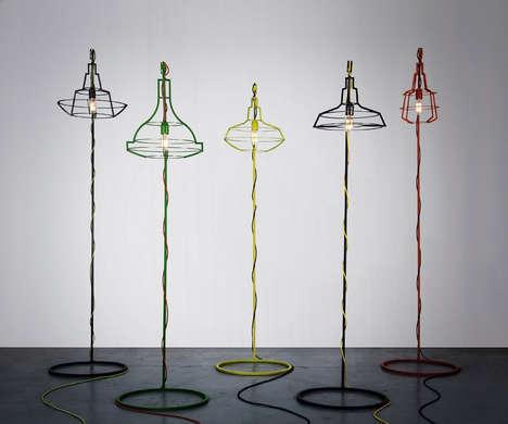 Minimalist Industrial Lighting - 'Slims' is a Set of Lamps by Studio Beam