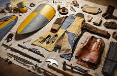 Evolutionary Military Inventories - Thom Atkinson Collects the Military Kits of Various Wars