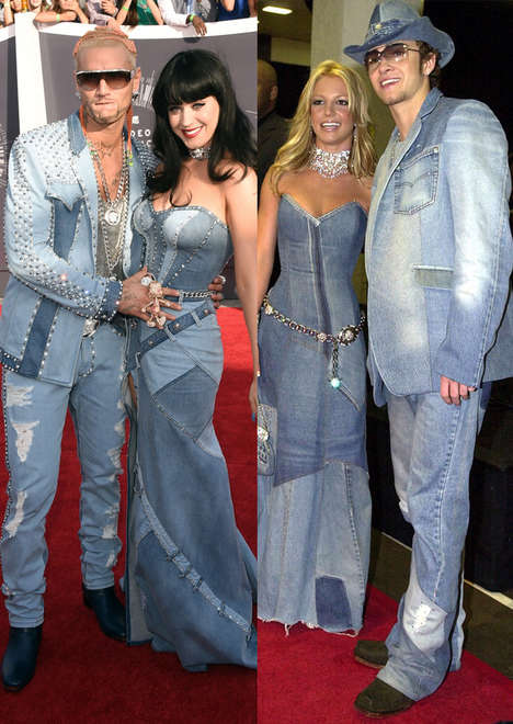 Early 2000s Homage Ensembles - Katy Perry's MTV VMA Outfit Pays Tribute to Britney Spears Circa 2001