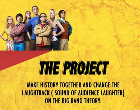 Crowdsourced Laugh Tracks - Retrack's Big Bang Theory Laugh Track Will Be Fan-Generated