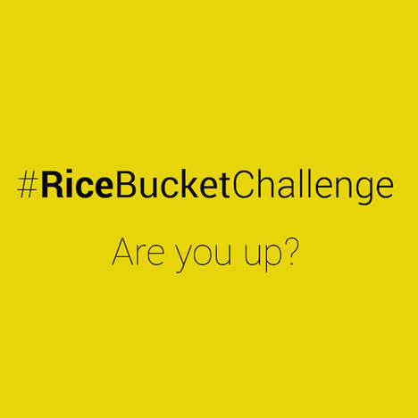 Hunger-Fighting Campaigns - India's Rice Bucket Challenge Immediately Helps the Hungry