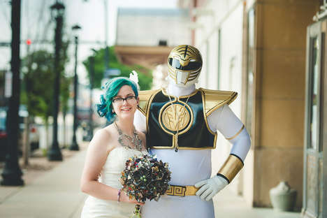 Nostalgic Nerd Weddings - This Comic Book Wedding Mashes Up Power Rangers and Lord of the Rings
