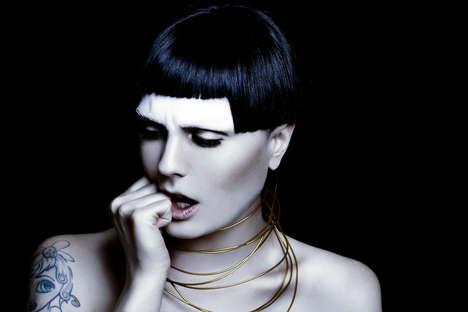 Captivating Goth Portrayals - Glassbook Magazine's Katana Image Series is Darkly Demure