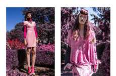 Psychedelic Garden Editorials - Glassbook Magazine's Poison Opal Image Series is Pink-Hued