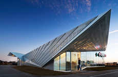Perforated Angled-Roof Architecture - The Legacy ER by 5G Studio is Tranquil