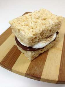 Cereal Campire Sandwiches - This Rice Krispies S'mores Dessert by Dude Foods is Deliciously Gooey