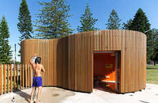 Beachfront Shower Blocks - The Cook Park Amenities Will Change Your Mind About Public Restrooms