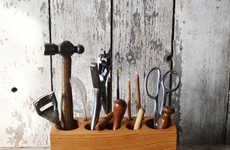Artisan Tool Storage - This Desk Caddy by Peg and Awl is Handcrafted from Reclaimed Materials