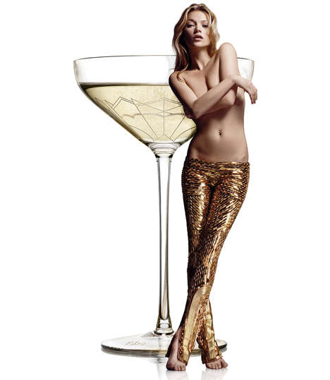 Supermodel Shaped Glassware - The 34 Kate Moss Coupe Celebrates the Model's Iconic Bust