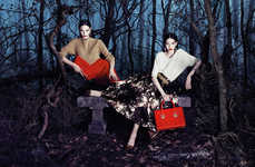 Spooky Woodland Campaigns - Elisabetta Franchi's Latest Advertorial is Darkly Romantic