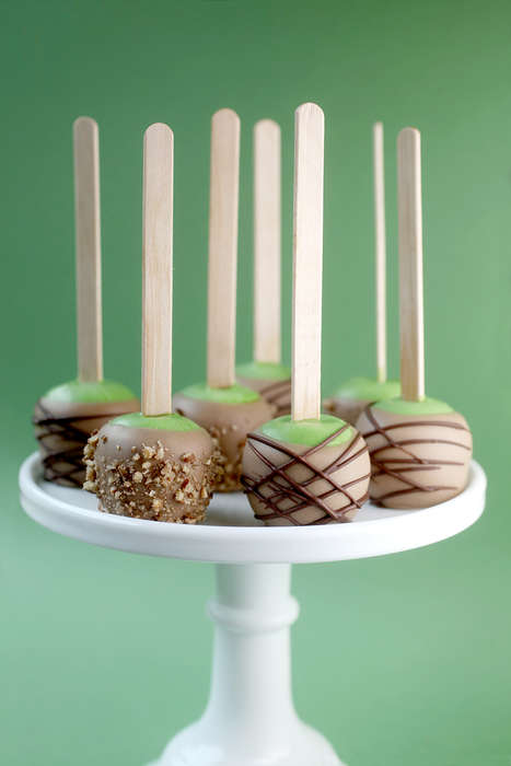 Candy Apple Cake Pops - Bakerella's Caramel Apple Cake Pop Recipe Uses the Limited Oreo Flavor