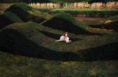 Glam Garden Maze Editorials - Glassbook Magazine's Queens Park Story Embodies Timeless Elegance