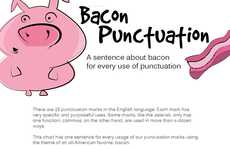 Porky Punctuation Infographics - Curtis Newbold Uses Bacon in Appealing Examples of Punctuation