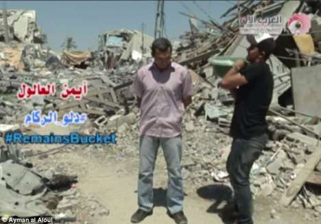 Palestinian Plight Campaigns - The Rubble Bucket Challenge Aims to Spread Awareness About Gaza