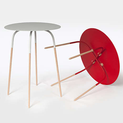 Slender Steel Tables - The Chopsticks Tables Feature Steel Reinforcement