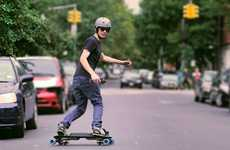 Snowboard-Mimicking Skateboards - The Leif Electric Skateboard Moves Like its on Snow