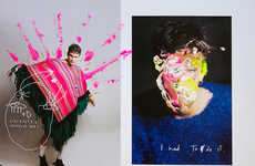 Vividly Vandalized Editorials - F****** Young! Online's  Andrea Swarz Exclusive is Visually Vibrant