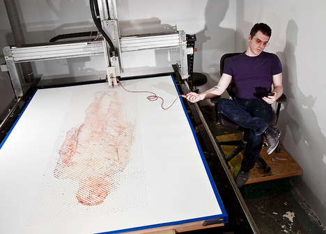 Fluid-Fueled Printers - The Ghost in the Machine Project by Ted Lawson Draws Blood
