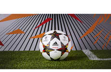 Explosive Soccer Balls - The Champions League Match Ball Features Explosive Red and Gold Shapes