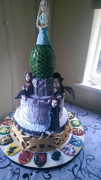 Fantasy World Cakes - This Game of Thrones Decorated Cake Design is Perfect for a Fan's Birthday