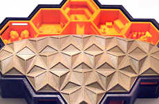 Honeycomb Housing Concepts - The Design For a Home on Mars Allows Future Humans to Live in a Beehive